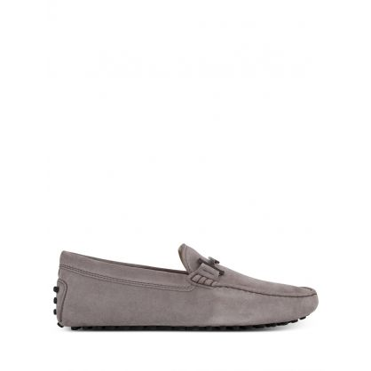 Grey Suede Gommino Driving Shoes