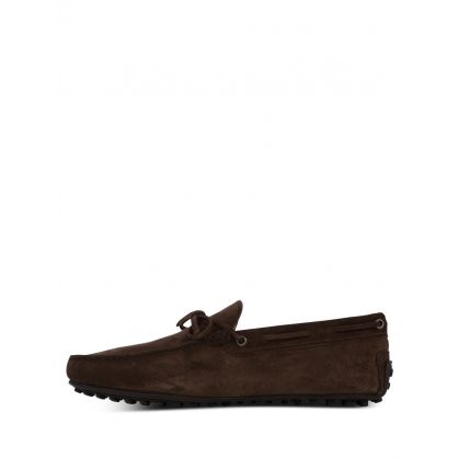 Brown Suede City Driving Shoes