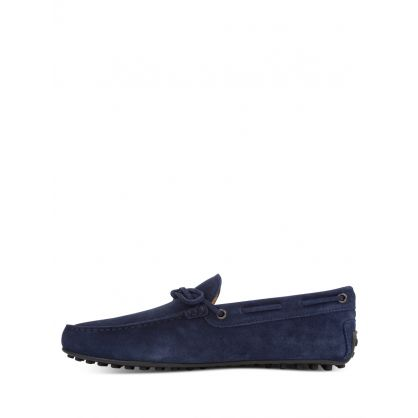 Navy Suede City Driving Shoes