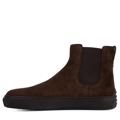 Dark Brown Suede Ankle Boots