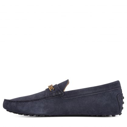 Navy Suede Gommino Driving Shoes