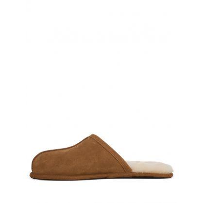 Brown Scuff Slippers