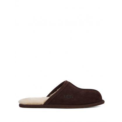 Dark Brown Scuff Slippers