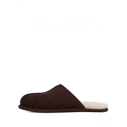 Dark Brown Scuff Slippers
