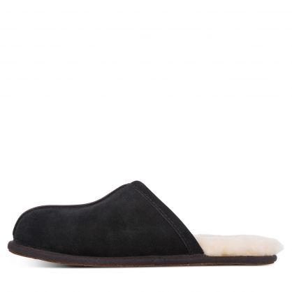 Black Scuff Slippers