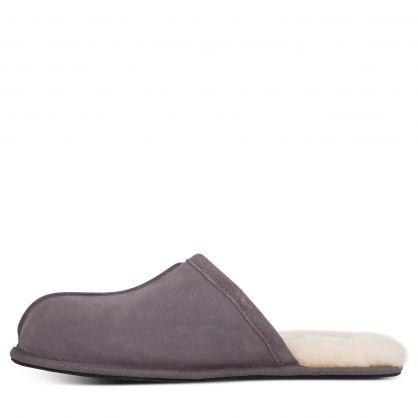 Dark Grey Scuff Slippers