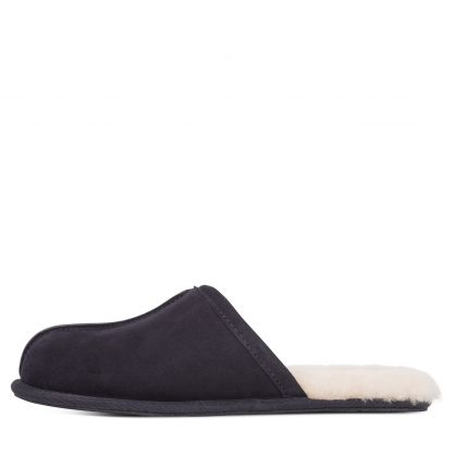 Navy Scuff Slippers