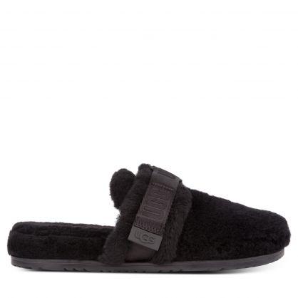 Black Fluff It Slippers