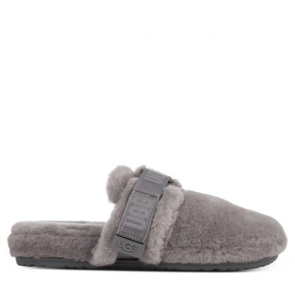 Grey Fluff It Slippers