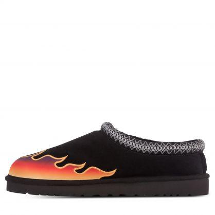 Black Tasman Flame Slippers