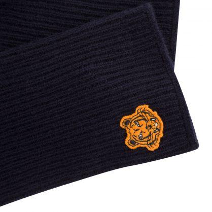 Navy Tiger Crest Gloves