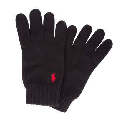 Black Classic Wool Gloves