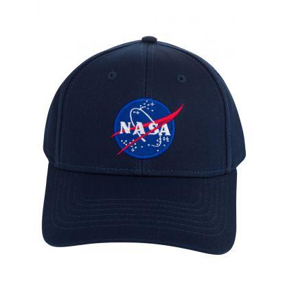 Navy Blue NASA Patch Logo Cap