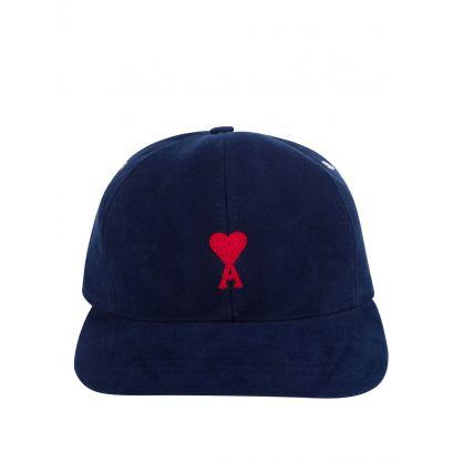 AMI de Coeur Navy Moleskin Cap