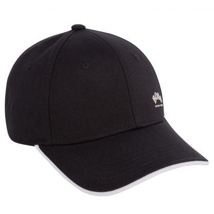 Black/White Logo Print Cap