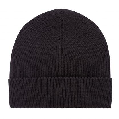Black Casual Foxxy Beanie Hat