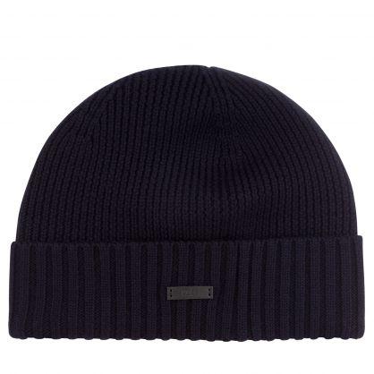 Dark Blue Fati-N Beanie Hat