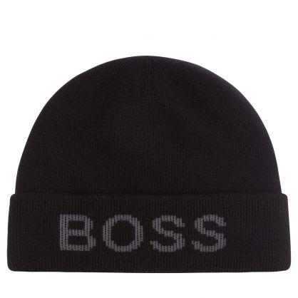 Black Nove-BB Logo Beanie Hat