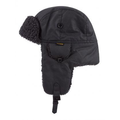Black Fleece-Lined Trapper Hat