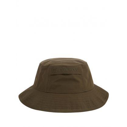 Green Chrome Garment Dyed Bucket Hat