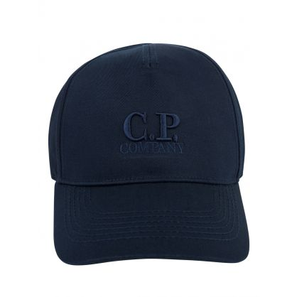 Navy Gabardine Logo Cap