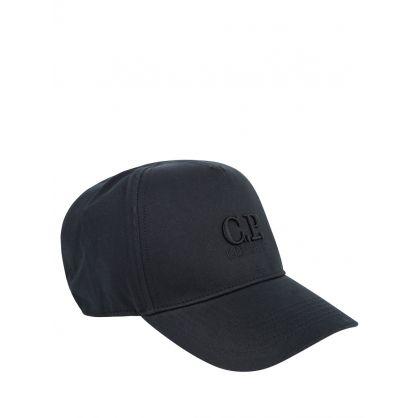 Black Gabardine Logo Cap