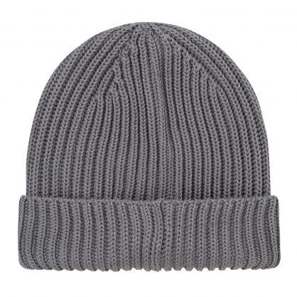 Grey Merino Wool Goggle Beanie Hat