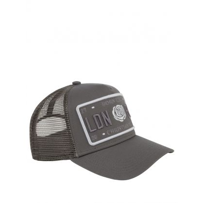 Grey 'Born Iconic' Plate Logo Cap