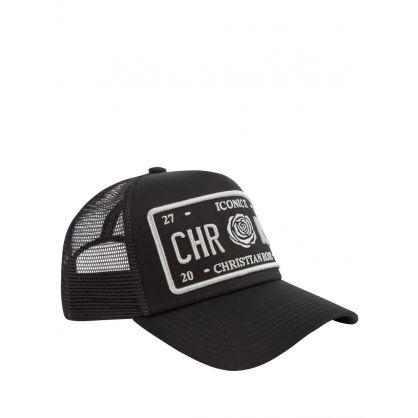 Black/Silver Iconic II Plate Cap