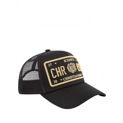 Black/Gold Iconic II Plate Cap