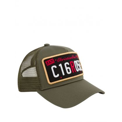 Olive Green Private Plate Cap