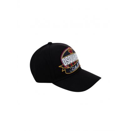 Black Football Club Logo Cap