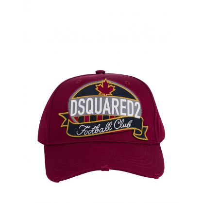 Burgundy Football Club Logo Cap