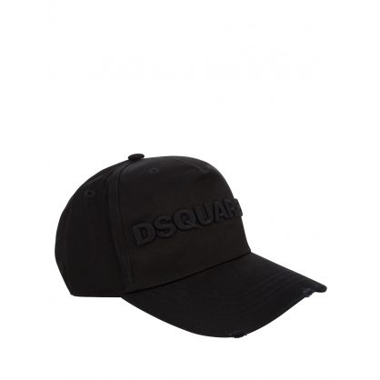 Black Signature Embroidered Logo Cap