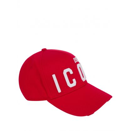 Red Distressed ICON Cap
