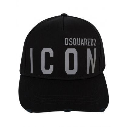 Black 'Be ICON' Cap