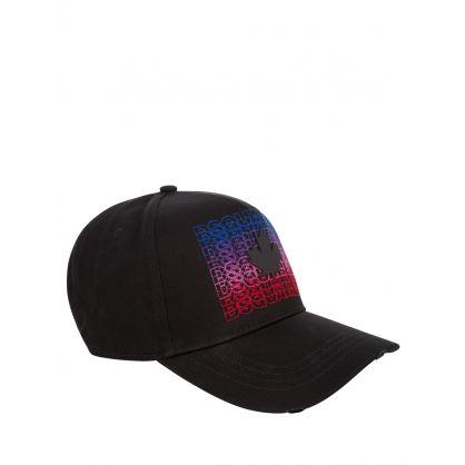 Black Multi Logo Baseball Cap