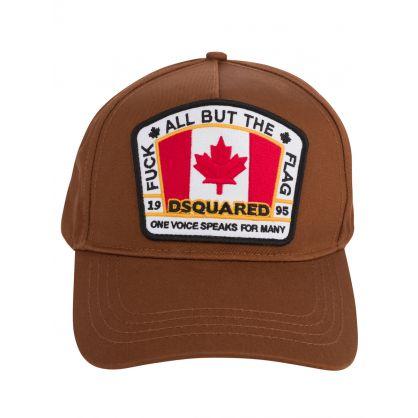 Brown Canadian Flag Cap