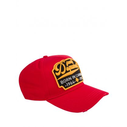 Red Born In Canada Cap