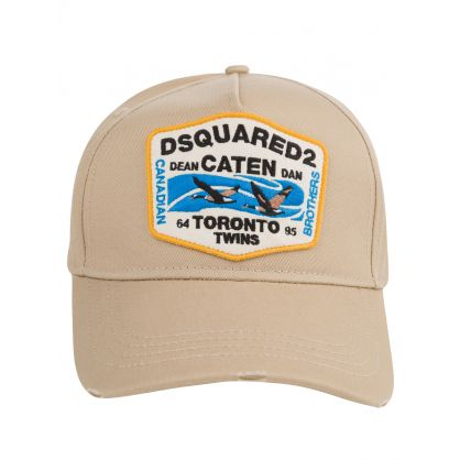 Beige Toronto Twins Patch Cap