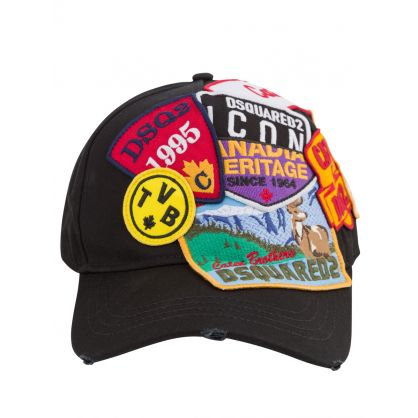 Black ICON Patches Cargo Cap