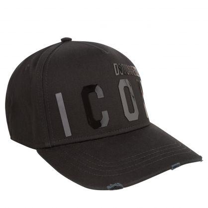 Black Shiny ICON Logo Cap