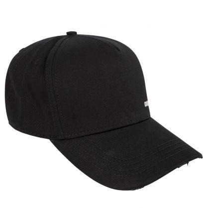Black Minimalist Logo Cap