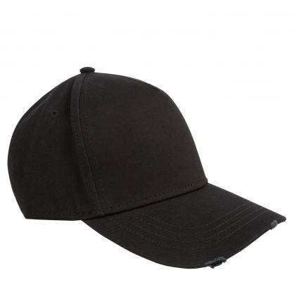 Black Embroidered Back Logo Cap