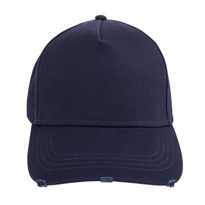 Navy Embroidered Back Logo Cap