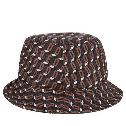 Brown D2 Monogram Bucket Hat