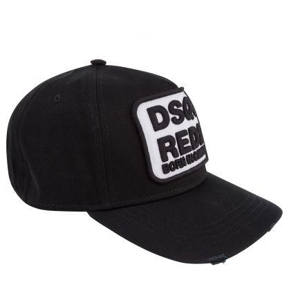 Black/White DSQ-Red2 Logo Cap