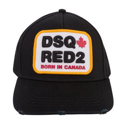 Black DSQ-Red2 Logo Cap
