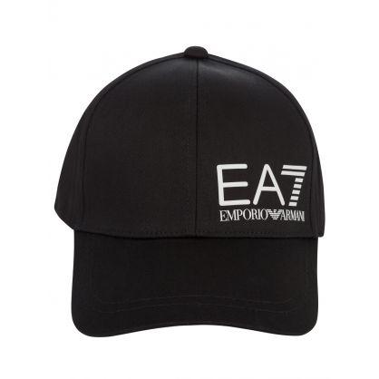 Black Logo Peaked Cap