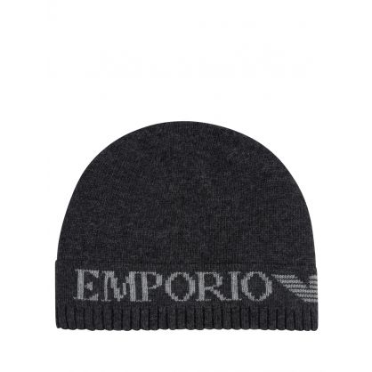 Grey Logo Hat & Scarf Set